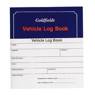 Goldfields Vehicle Log Book Soft Cover Blue