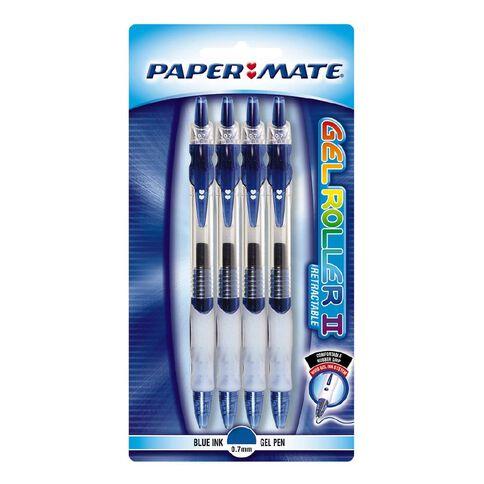 Papermate Pen Gel Roller 4 Pack Blue