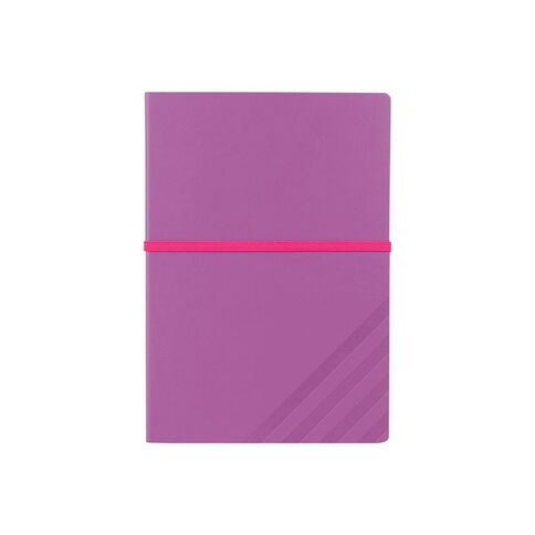 Paper Lane Journal PU Exposed Purple A5