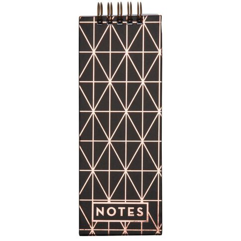 Uniti Hardcover Notepad With Pen Holder Rose Gold