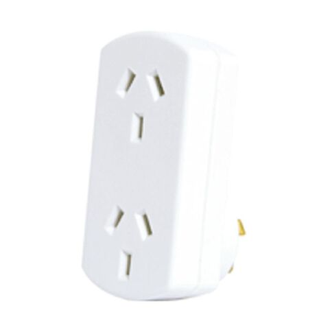 Goldair Adapter Double Vertical White