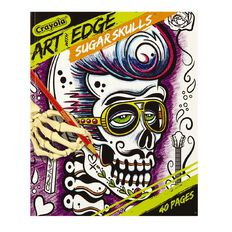 Art With Edge Sugar Skulls Colouring Book