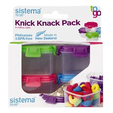 Sistema Knick Knack To Go Box Mini 4 Pack Multi-Coloured