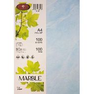 Marble Paper 100gsm 100 Pack Blue A4