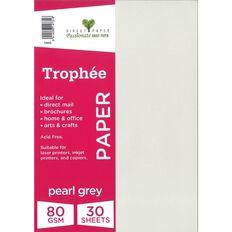 Trophee Paper 80gsm 30 Pack Peral Grey A4