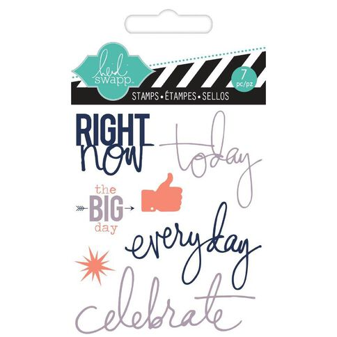 Heidi Swapp Stamps Small Right Now Clear