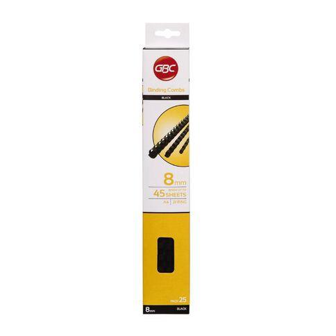 Ibico Binding Comb 8mm 25 Pack Black