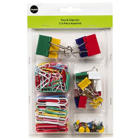 Impact Pins & Clips Set 216 Piece Assorted