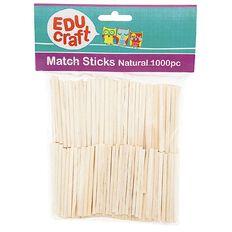 Educraft Match Sticks Plain 1000 Pieces