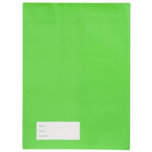 Solid A4 Book Sleeve Green Green