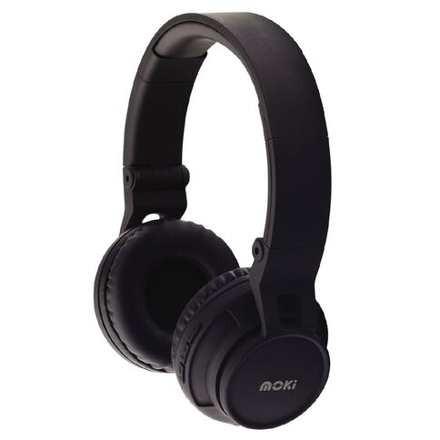 Moki Bluetooth Wireless Headphones Black