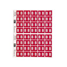 Filecorp Coloured Labels B Red