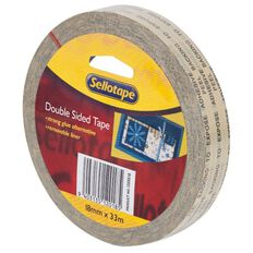 Doublesided Tape 18mm x 33m Clear