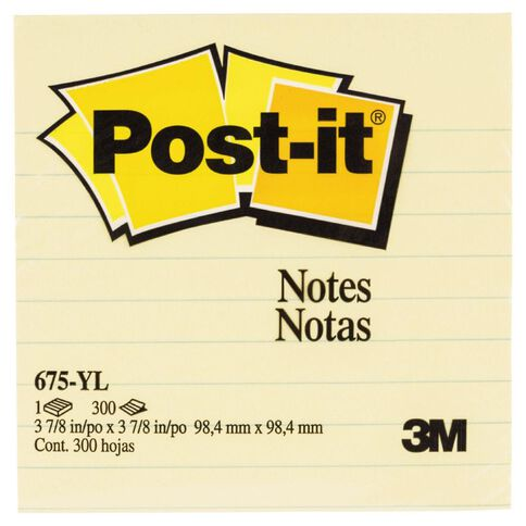 Post-It Notes 675-Yl 98.4mm x 98.4mm Yellow Yellow