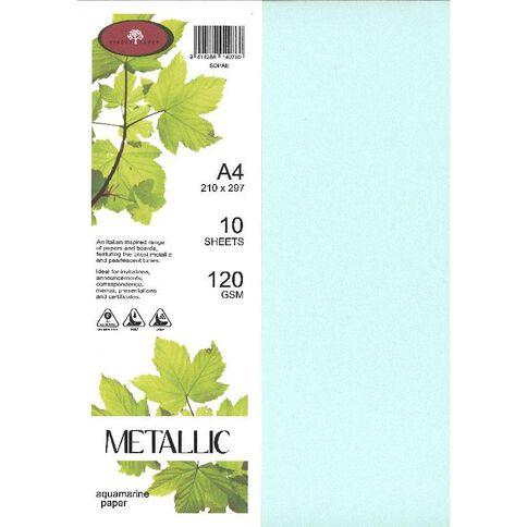 Metallic Paper 120gsm 10 Pack Aqua A4