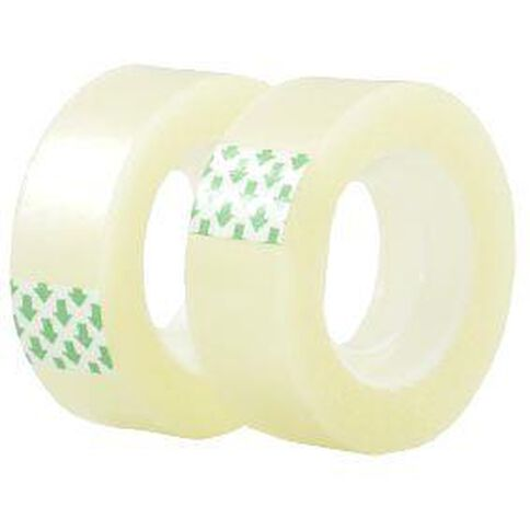 Stationery Tape 18mm x 33m 2 Pack Clear