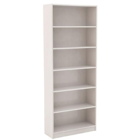 Workspace Soho Wide Bookcase 6 Tier White