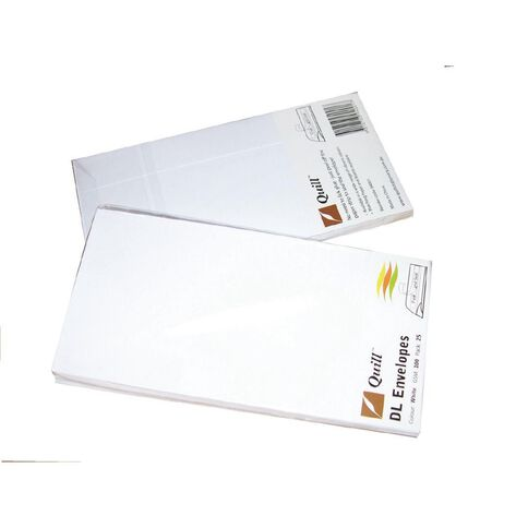 XL Multi Office Envelopes Dl 25 Pack White