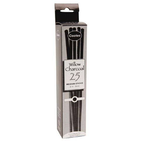 Charcoal Coates Willow Medium 25 Pack