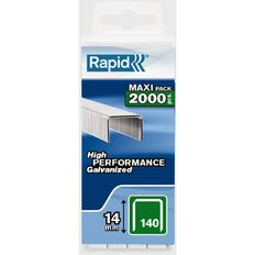 Rapid Staples 140/14 2000 Pack Silver