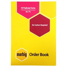 Marbig Order Book Triplicate 50 Leaf Yellow A5