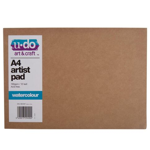 U-Do Watercolour Painting Pad