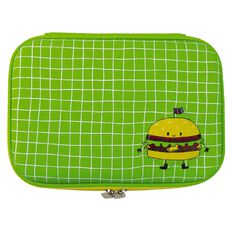 Kookie Burger Hardtop Pencil Case Green
