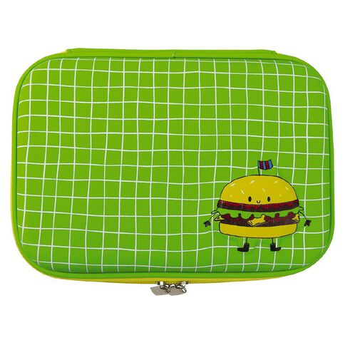 Kookie Burger Hardtop Pencil Case Green