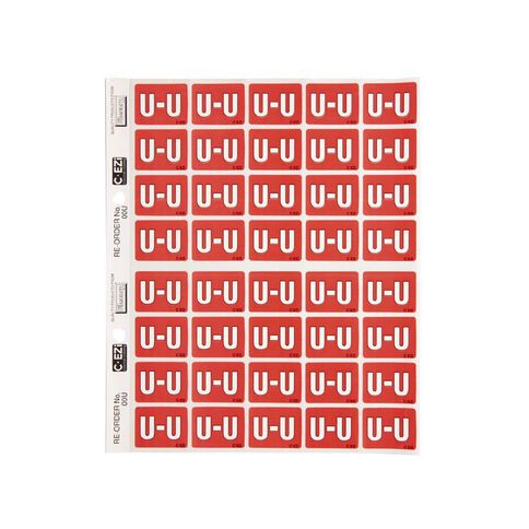 Filecorp Coloured Labels U Red