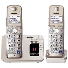Panasonic Kx-Tge222Azn Twin Cordless Phone With Answerphone Silver