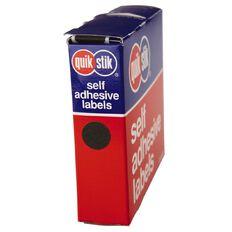 Quik Stik Labels Dots Mc14 1050 Pack Black
