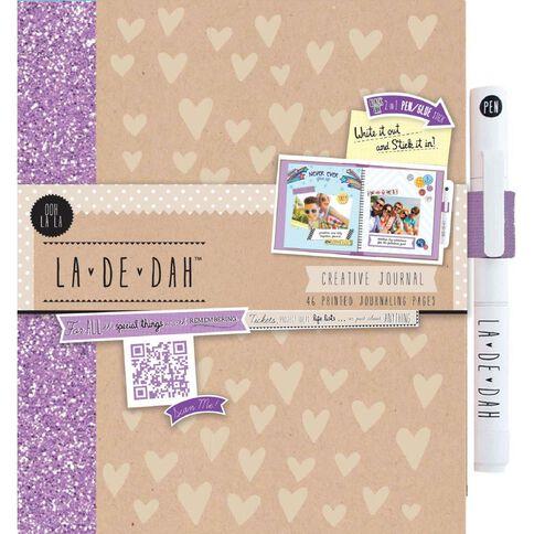 La De Dah Journal & Glue Pen Ooh La La Multi-Coloured