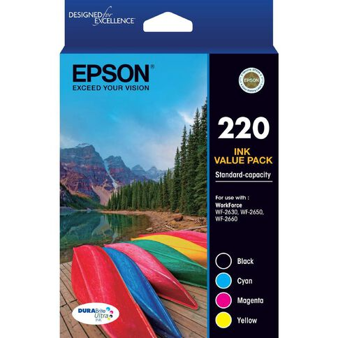 Epson Ink Cartridge 220 Value 4 Pack Multi-Coloured