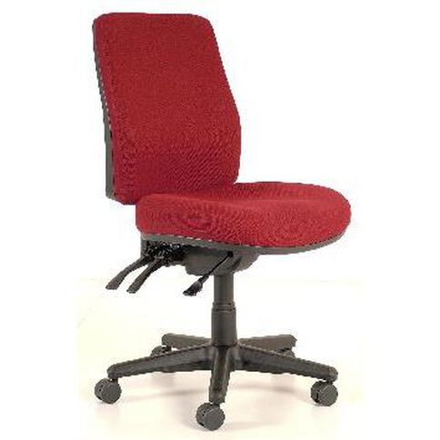 Buro Seating Roma 3 Lever Highback Chair Burgundy