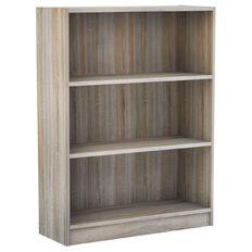 Workspace Soho Wide Bookcase 3 Tier Oak