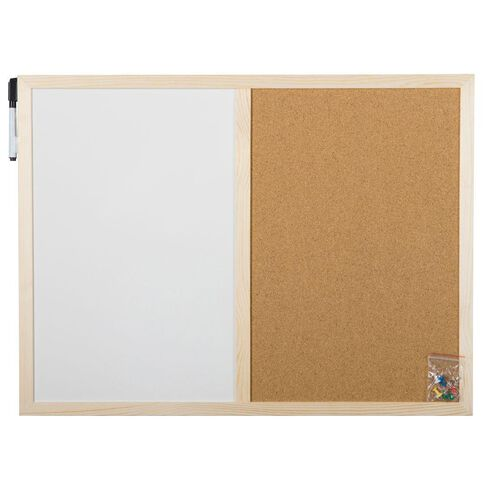Workspace Combo Board 450 x 600mm Brown