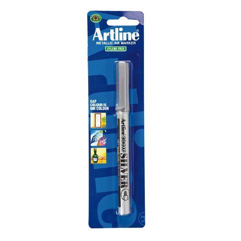 Artline 990 Metallic Marker Silver Silver