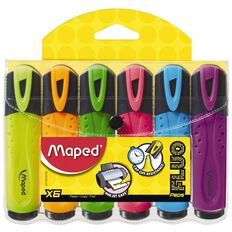 Maped Highlighter Wallet 6 Pack Multi-Coloured