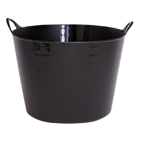 Taurus Flexi Tub Round Black 40L