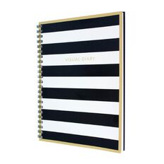 The Art Department Visual Diary Black/White Stripe A4