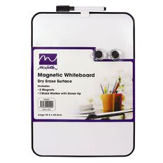 Modish Magnetic Whiteboard Large Assd Cols White