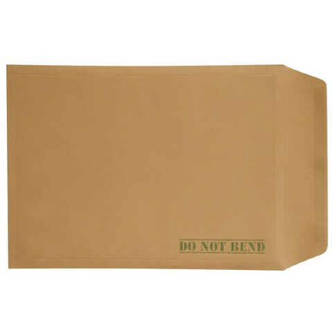 Envelope Board Backed Single Brown A4
