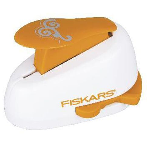 Fiskars Lever Punch 1 Corner Scroll White