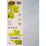 Marble Paper 100gsm 12 Pack Blue A4