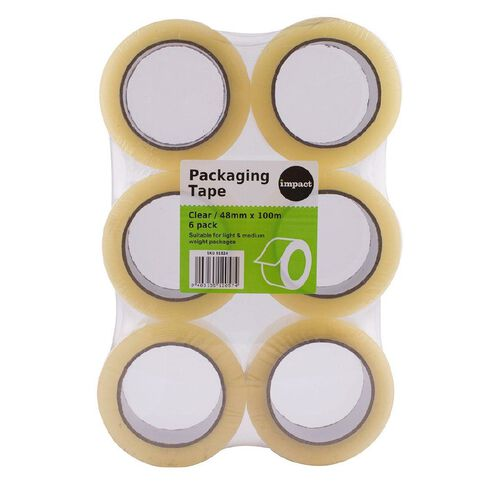 Impact Packaging Tape PP Acrylic 48mm x 100m 6 Pack Clear