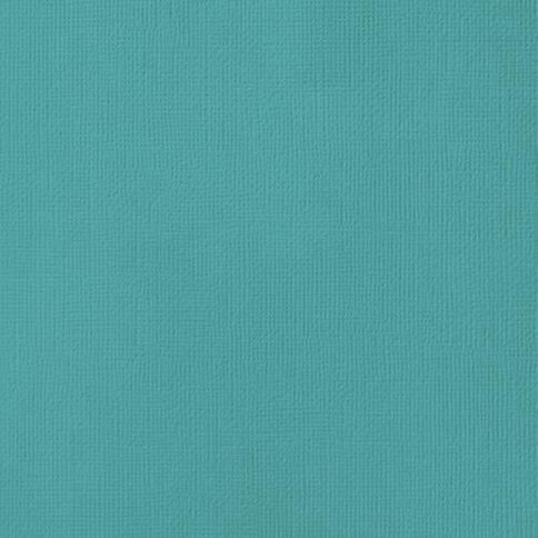 American Crafts Cardstock Textured 12 x 12 Surf Blue