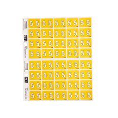 Filecorp Coloured Labels 5 Yellow