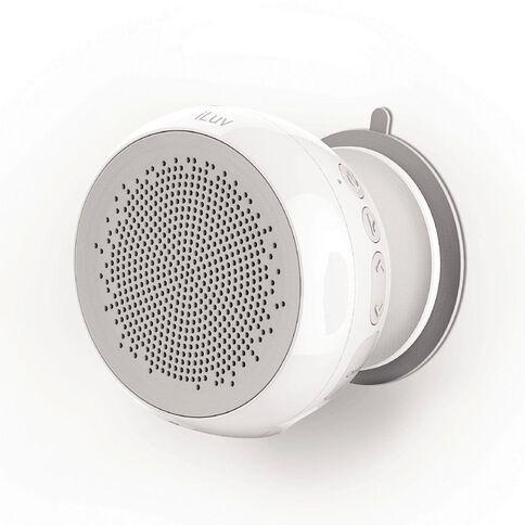 iLuv Iluv Audshower Water Resistant Wireless Shower Speaker White
