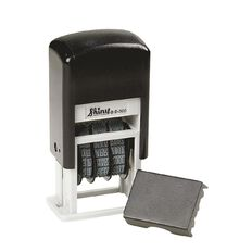 Shiny Stamp S300 Mini Dater Self Inking Black
