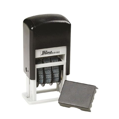 Shiny Stamp S300 Mini Dater Self Inking Black